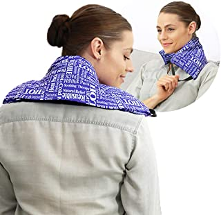 Hot Pockets All Purpose Microwavable Rice Heating Pad for Neck and Shoulders Pain Relief - 3 Pockets Hot and Cold Pack of ...