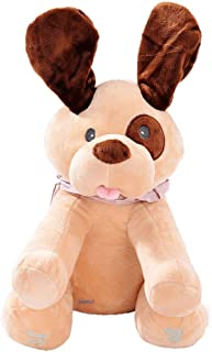 Didi The Dog Animated Singing Plush Dog with Peek-a-Boo Interactive Feature and Flappy Ears Toy by Dimple Sings Do Your Ears Hang Low