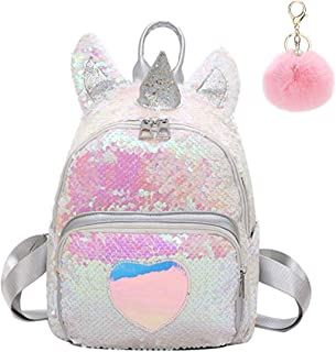 UNICORN Bag Girls School Backpack Shiny Holographic Pink Bag Personalised PH14