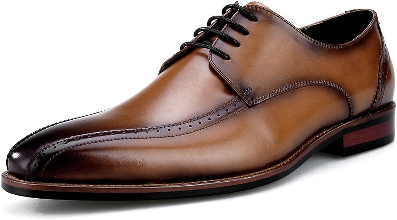 Herren Lederschuhe Herren Lederschuhe Lederschuhe Business Formelle Kleidung klassischen britischen Stil Square Head Herrenschuhe (Farbe   Braun, Größe   EU42 UK7.5)  offizielle Qualität