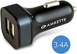 Amkette 873BK Power Pro Rapid Car Charger with Micro USB Cable (Black)