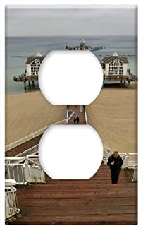 Switch Plate Outlet Cover - Sellin RUgen Island Baltic Sea Beach Sea Bridge 1