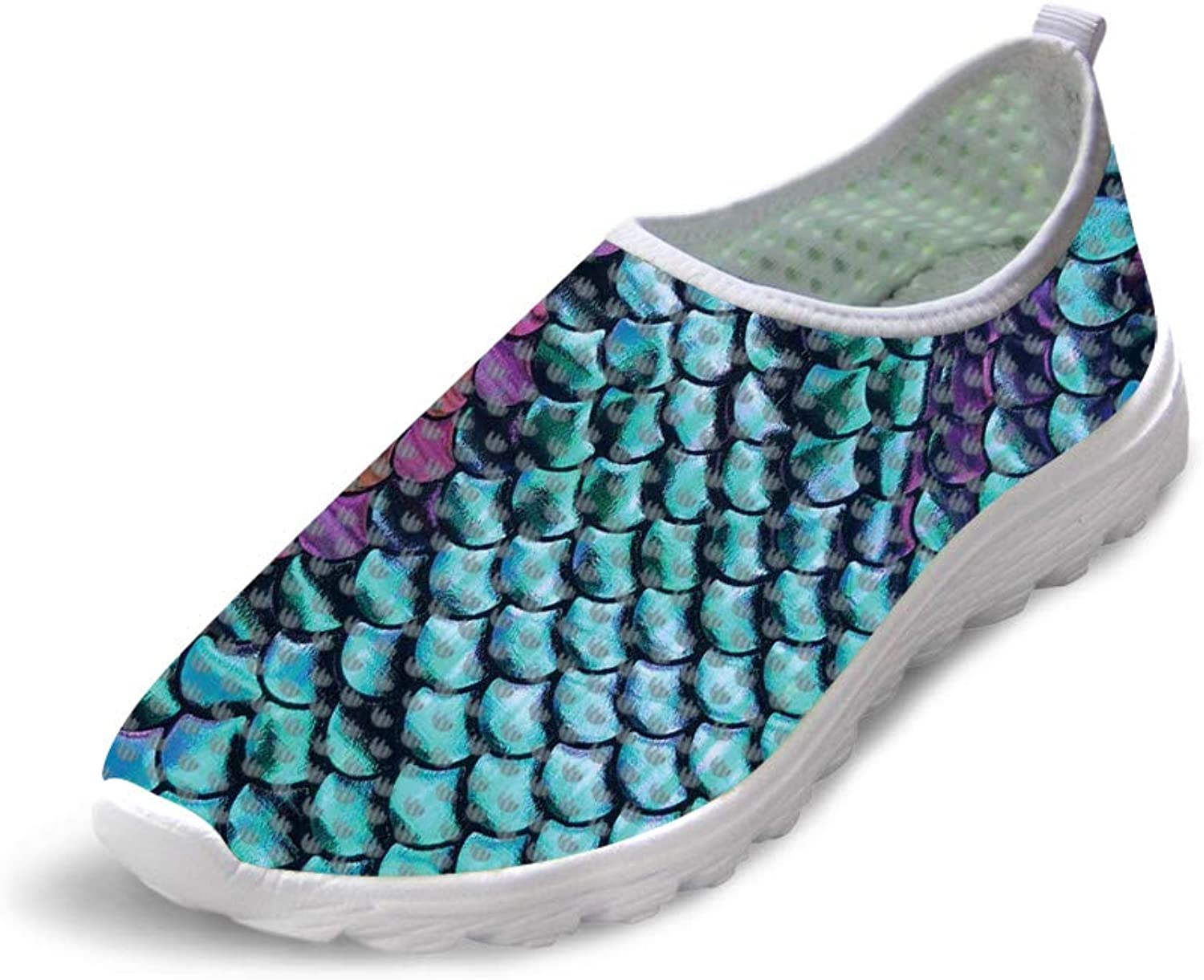 Owaheson Trail Runner Running shoes Casual Sneakers Paint Purple Green Fish Scales