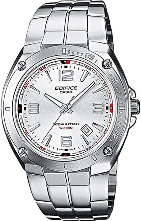 Orologio watch casio edifice , robusta cassa, 10 bar, uomo con cinturino in acciaio inox EF-126D-7AVEF