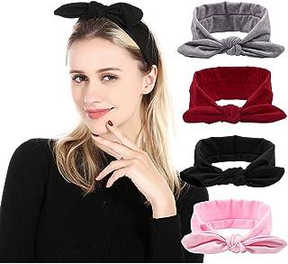 Catery Sport Headbands Twist Cross Knot Headband Headpiece Stretchy Yoga Running Head Wrap Hair Band Vintage Cloth Elastic...