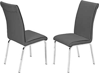 Best Quality Furniture Dining Chair (Set of Two), gray