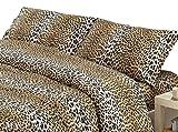 megawebstore Copripiumino in 100% Cotone per Letto Matrimoniale 2 Piazze Maculato Leopardato
