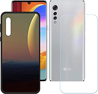LMLQSZ Fodral för LG Velvet 2 Pro + HD pansarglas, mjukt mobiltelefonskal silikon skyddsskal skydd TPU Case mobiltelefon v...