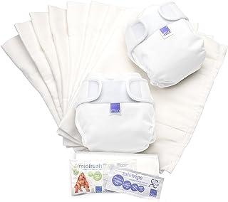 Bambino Mio, miosoft Cloth Nappy Set, White, Size 1 (<9kgs)