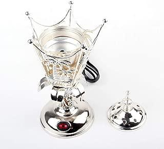 Electric Bakhoor Burner Electric Incense Burner Camphor- Oud Resin Camphor Positive Energy Gift - WF-008 - Silver