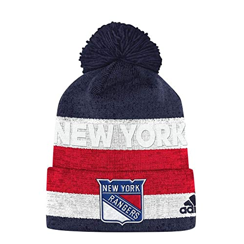 12612a0754b adidas New York Rangers Pro Collection Juliet Pom Knit Hat