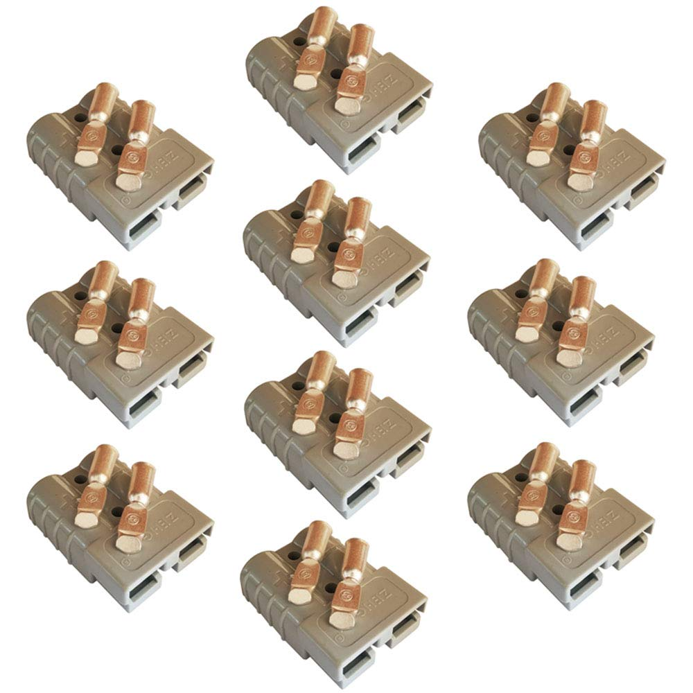20pcs Red, 6awg 50Amp Power Connector Plug 50A Quick Connect Disconnect 600 V 10 Pairs for 50Amp Battery Connector