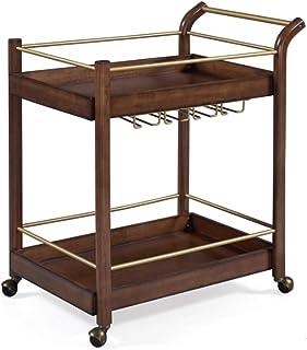 Chariot De Service Table Roulante Table Bar De Cuisine Rangement Etageres De Rangement Meuble Bar Dessertes,48 X 78 X 88cm...