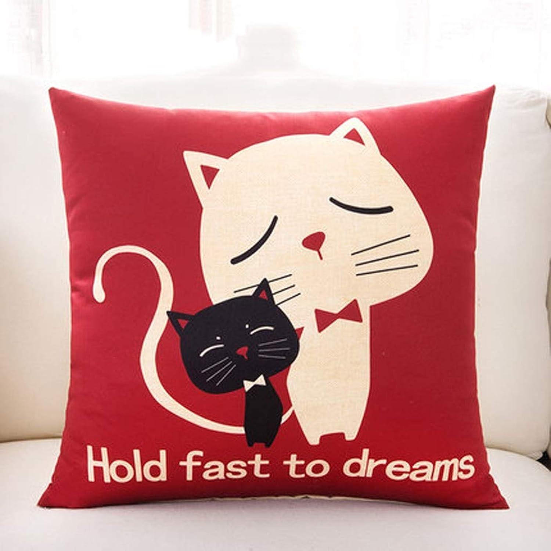 Throw Pillows Cartoon Pillowcase Sofa Throw Pillow Cover Office Lunch Break Pillow Bed Jacquard Square Pillow Car Waist Pad(Multiple Colour) ZXMDMZ (color    5, Size   50x50cm)