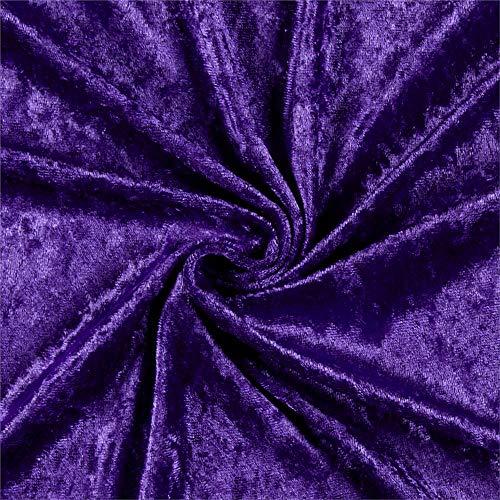 Ben Textiles Stretch Panne Velvet Velour Purple Fabric By The Yard