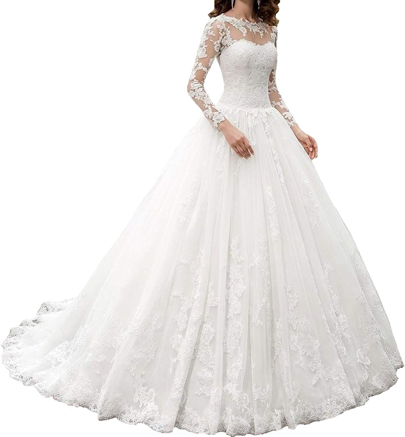 Fanao Women's A Line Wedding Dresses Long for Lace Super special ...