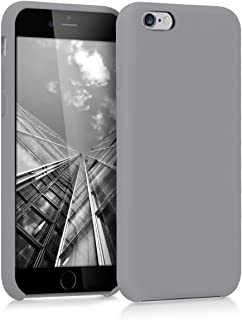 kwmobile TPU Silicone Case for Apple iPhone 6 / 6S - Soft Flexible Rubber Protective Cover - Titanium Grey