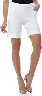 """REKUCCI Women's Ease in to Comfort Fit 8"""" Chic Urban Short 6 White"""