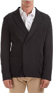 Emporio Armani Men's Double Breasted Jacket Blazer Grey