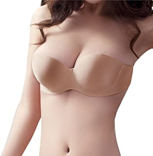 bb9cd683aa Hoerev Thick Self Adhesive Silicone Strapless Invisible Cup Bras