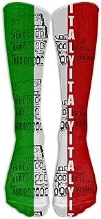 レディース&メンズイタリアイタリアの国旗ローマのコロシアムストッキングソックスアスレチックソックスロングソックスオールスポーツホリデー