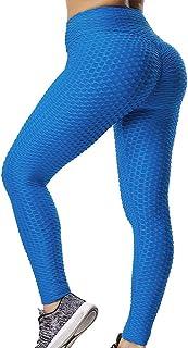 GILLYA Booty Yoga Pants Women High Waisted Ruched Butt Lift Textured Tummy Control Scrunch Leggings