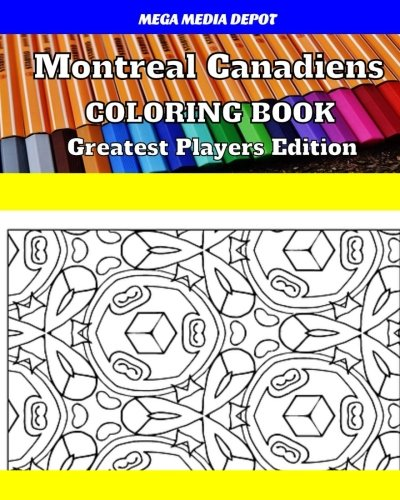 Montreal Canadiens Coloring Book Greatest Players Edition