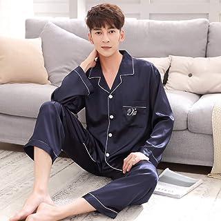 d8f6ec94f4d HIUGHJ Pijamas 100% Pijamas de Seda Pijamas de Las Mujeres Conjuntos de  Manga Larga Elegancia