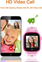 BLACK Bond DF33 IP67 Waterproof Smart Watch 4G Remote Camera GPS WI-FI Kids Children Students Wristwatch SOS Video Call Monitor Tracker (Pink)