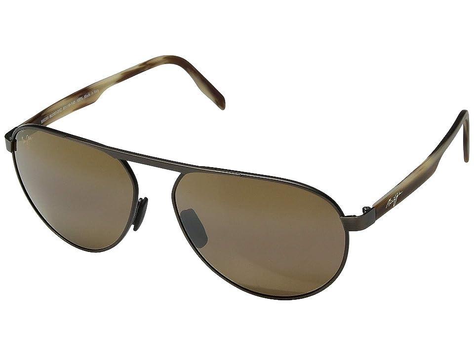 Maui Jim Swinging Bridges (Brushed Chocolate/HCL Bronze) Athletic Performance Sport Sunglasses