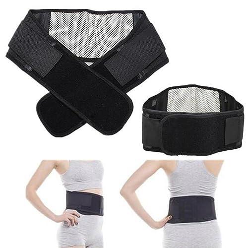 b333c4abe11 Krevia Soft Nylon Portable Therapy Back Waist Support Lumbar Brace Belt  Double Pull Strap Lower Pain