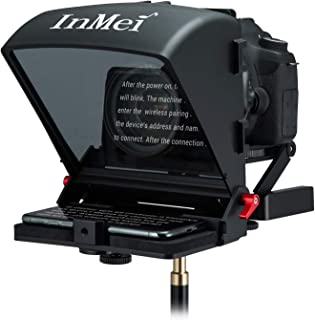 Inmei X1 Teleprompter for DSLR Camera/Smartphone/Tablet, Portable Teleprompter Kit with Remote Control Video Recording, Compatible with iOS & Android+LETWING Cloth