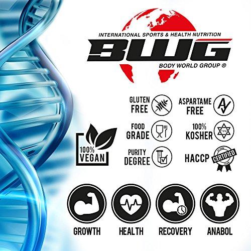 BWG Ultra Glutamine, L-Glutamin Pulver, Muscle Line, 1er Pack (1 x 1000g Beutel) - 6