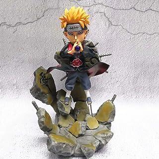 WWSC Naruto Scene Pain Akatsuki Combat Yahiko,Anime Modelo Estatua Adornos Animados Colección de Arte de Personajes Figura de acción de Juguete -Genius Amor 25cm