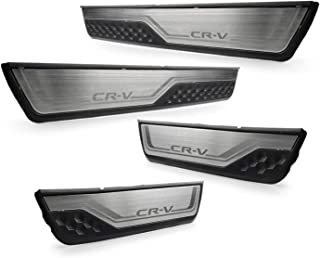 Ruiya Kona Stainless Steel Door Sill Trims Car Sill Bumper Protector Protector Strips Car Door Sill Set of 4