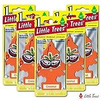 リトルツリー エアフレッシュナー5枚セット 【Coconut ココナッツ】LittleTree/芳香剤/カーフレッシュナー