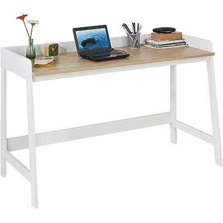 SoBuy FWT41-WN Bureau Informatique Secrétaire Table pour Ordinateur Conception Simple Plan de Travail