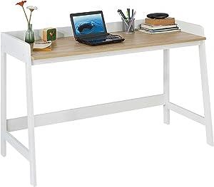 SoBuy® FWT41-WN Bureau Informatique Secrétaire Table pour Ordinateur Conception Simple Plan de Travail