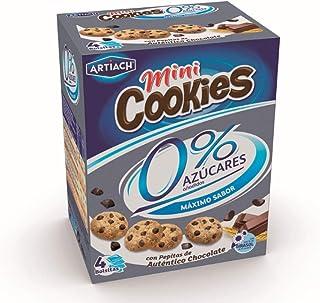 comprar comparacion Artiach Mini Cookies - Mini galletas, 0% azúcar, 1 paquete con 4 bolsitas