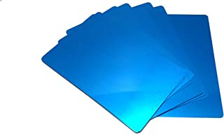 Blue Aluminum Business Card Blanks 100 Pack - Laser Engraver and CNC engraving Color options available - By Malayan