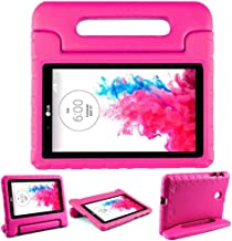 LG G Pad 7.0 Case – SIMPLEWAY Protective Handle Stand Tablet Case Cover Compatible with LG G Pad V400 / V410 (LTE) / VK410 / UK410 / LK430 (G Pad F7.0) 7 Inch,Rose