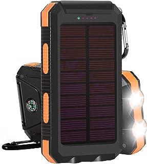A/A Bärbart externt batteripaket, vattentäta utgångar soltelefonladdning för mobiltelefoner, surfplattor och elektronisk e...