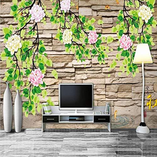 Fotobehang - landelijke stijl vierkant wandbehang wandbehang wandbehang 3D wand wand foto wand decoratie 250 x 175 cm.