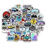 BLOUR 50 pièces/Ensemble Hiver Ski Neige Montagne Pingouin Graffiti Autocollants pour Bagages Ordinateur Portable Planche à roulettes réfrigérateur Ski Voiture Autocollants