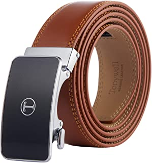 "Men's Belt, Tonywell Ratchet Belt for Men with 1 3/8"" Genuine Leather Belt, Trim to Fit"