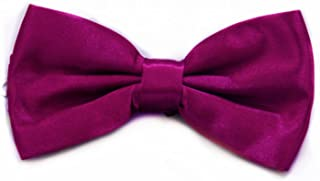 QZQ Bow Tie Mens Plain Bowtie Polyester Tied Wedding Tuxedo Bow Tie Accessory