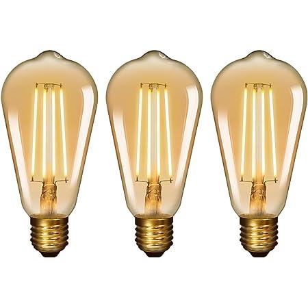 Lampadine LED retr/ò a risparmio energetico confezione da 3 E27 6W Lampadina LED Edison vintage 60W equivalente