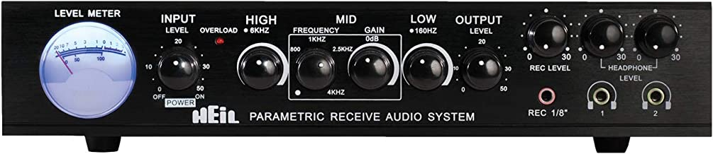 Heil Sound Parametric Receive Audio System Equalizer (PRAS EQ) Audio Processor for Amateur Radio, Shortwave, Commercial an...