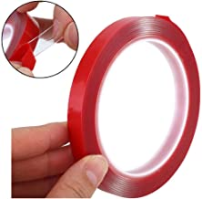 Clear Mounting Tape - Acrylic Adhesive Double Sided Adhesive Foam Tape 10m X 10mm Weatherproof Heavy Duty Glue, Heat Resistant Perfect for LED Light Strip Channel,Auto,Household,and More