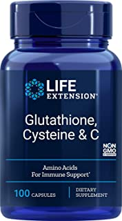 Life Extension Glutathione, Cysteine and C 750 mg , 100 Vegetarian Capsules